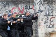 Policemen take position during operation at Jacarezinho slum in Rio de Janeiro